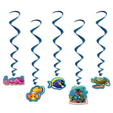 UNDER THE SEA HANGING PARTY DECORATION WHIRLS - PACK 5