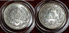 1915 F Mint WILHELM II BU 1/2 Mark German Empire Silver Eagle Coin Lot 6