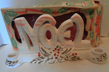 Vintage Chalkware Noel Candleholder in Original Box Campana Original