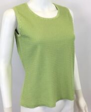 Amber Sun Women's Apple Green Sleeveless Top - Size S - *C327