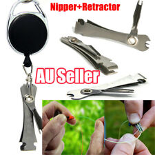 Knot Fly Tool Fishing Clippers Quick Line Nippers Cutter Snip Retractor  LG