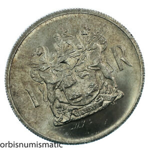 1969 SOUTH AFRICA 1 RAND SILVER DEER DR T.E. DONGES UNC COIN SUID AFRIKA Z199