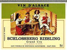 "Etiquette """" Vin D'Alsace - Schlossberg - Riesling - Grand Cru "" - Réf.n°312"