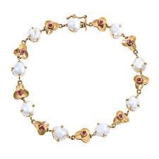 Armbänder mit Rubin Edelsteinen Sets aus Gelbgold für Damen