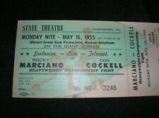 ROCKY MARCIANO VS DON COCKELL ROCKY NEXT TO LAST FIGHT TICKET