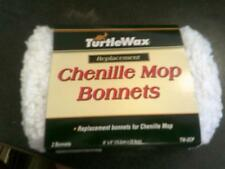 """4 New Turtle Wax TW-2CP Chenille Mop Bonnets car wax detailing buffing pad 6""""X9"""""""