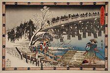 Samurai japon les 47 ronin act 11 traversant un pont 7x5 pouces imprimer