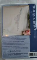 2 Stamped Pillowcases Embroidery Cross Stitch Dimensions Wildflowers 73197