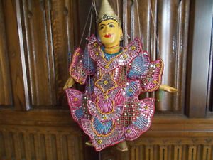 Vintage Thai puppet hand painted and in a good condition