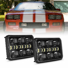 Pair 4X6'' INCH LED Headlights Hi-Lo Beam For Chevrolet Camaro Monte Carlo Buick