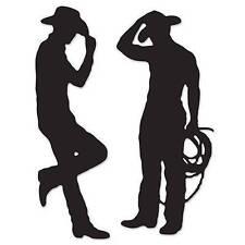 Sale price Cowboy Silhouette Cutouts set of 2 Cardboard Cutout Western Decor