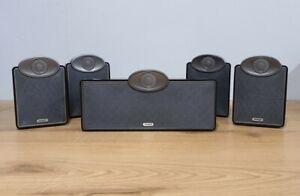 Tannoy SFX Surround Sound - 4 Satellite Speakers & 1 Centre - Gloss Black