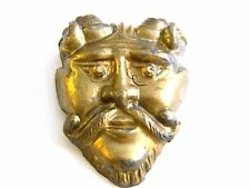 Early 1900s Man Dress Clip Handlebar Mustache and Funny Curls in Hair Vinta