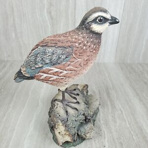 Ducks Unlimited Quail Carving Sculpture Life Like Ltd Very Rare