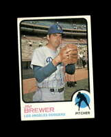 Jim Brewer Hand Signed 1973 Topps Los Angeles Dodgers Autograph