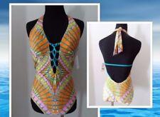 *NEW* $148 TRINA TURK sz 8 one piece swimsuit orange bathing suit medium NWT