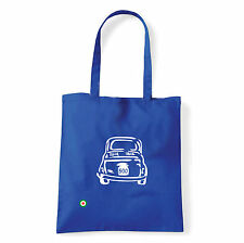 Art T-shirt, Borsa shoulder 500 Fiat, Blu, Shopper, Mare