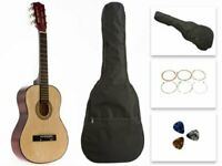 Star Kids Acoustic Toy Guitar 31 Inches Natural with Bag, Strings & Picks