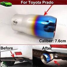 1 Blue Exhaust Muffler Tail Pipe Tip Tailpipe Emblems For Toyota Prado 2008-2017