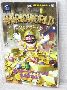 WARIO WORLD Nintendo Official Guide w/Sticker Game Cube Book 2004 SG80