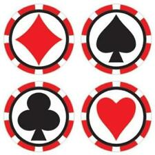 Casino Cup Beverage Coasters 8 Pack Casino Vegas Gambling Party Decoration