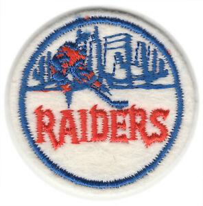 "1972-73 NEW YORK RAIDERS WHA HOCKEY VINTAGE 2"" ROUND DEFUNCT TEAM PATCH"
