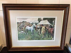 Sir Alfred Munnings Print In Frame.