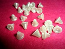 Vintage White Faux Pearl  Bell Beads       24 pcs