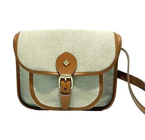 HERBERT FRERE SOEUR FRENCH CANVAS AND LEATHER CROSSBODY, $400
