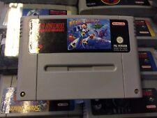 Super Nintendo SNES Game Mega Man Megaman X Cart Only Free P+P