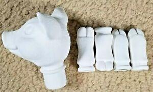 Ceramic Doll Kit Parts 5 Pcs Pig Head & Hooves