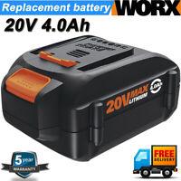 WA3525 WA3578 For WORX 20V Max Lithium Power Tool 4.0AH Battery WA3520 WA3575 US
