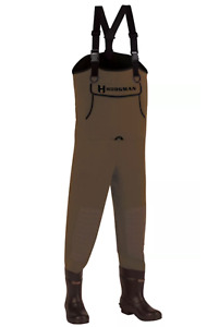 Hodgman CASTCBC11 Caster Neoprene Cleated Bootfoot Chest Waders, Size 11, Brown