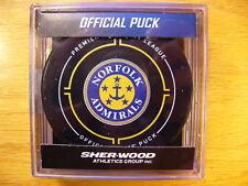 ECHL Norfolk Admirals Anchor Logo 30th Official Game Hockey Puck Collect Pucks