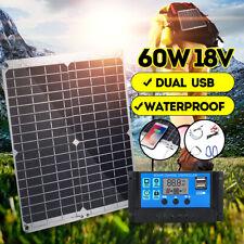 60W 12V Mono Solar Panel Solarmodul Solarzelle mit 10A Controller Laderegler D