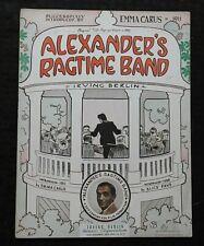"1938 ""Alexander's Ragtime Band"" Irving Berlin Sheet Music Alice Faye Emma Caruse"