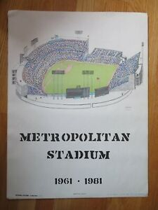 National Pastime Collection 1961-1981 METROPOLITAN STADIUM Home of Twins Poster