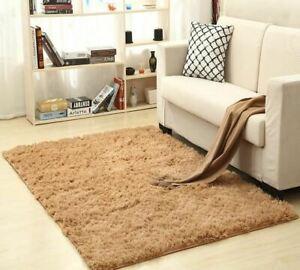 Children Soft Silk Wool Indoor Modern Shag Area Silky Carpet Bedroom Floor Mat B