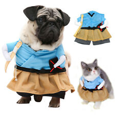 Small Dog Costume Halloween Funny Party Cosplay Clothes Denim for Pets Puppy Cat