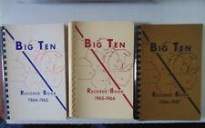 1965-66 Big Ten Records Book Football Basketball Baseball + Other Sports