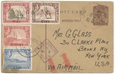 Aden, WWII Airmail, 1943 3/4a Postal Card w/4 Diff