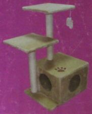 Cat Scratcher Scratching Post Scratch Box 2 Pole Tree Platform