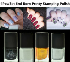 4Pcs/Set 6ml Born Pretty Nail Art Stamping Polish Plate Printing Varnish DIY