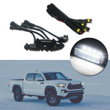 4pc Bright White LED Driving Lighting Kit For 2016-19 Toyota Tacoma Front Grille