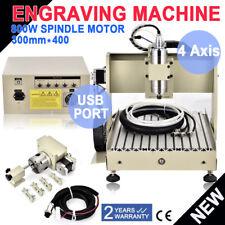 CNC Routeur Engraving 3040 graveur bois USB Milling machine 800W fraiseuse 4 Axe