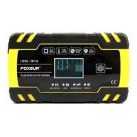 FOXSUR 12V 8A 24V 4A Puls Reparatur LadegeräT mit LCD Display, Motorrad und O5M9