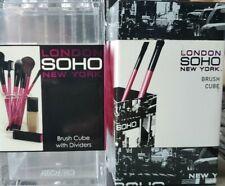 London SOHO New York 2pc Black & Clear Acrylic Makeup, Brush Organizer Cubes