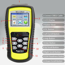 EOBD2 OBD 2 Car Auto Scanner Diagnostic Scanner Tools Code Reader Yellow