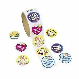 Paper Prayer Roll of Stickers 1 Roll 100 Stickers