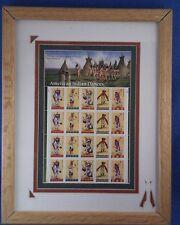 US Stamps - 1996 NATIVE American Indian  Dances - 20 Stamp Sheet -Matted Framed